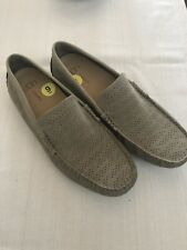 UGG ENERG Mens Size 9  Style 101 4642 Loafers leather Tan Removable Insoles.