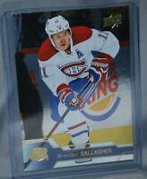 2016-17 Upper Deck Silver Foil #101 Brendan Gallagher Montreal Canadiens