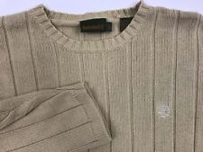 Timberland Mens L Tall Beige Cable Knit Crewneck Cotton Pullover Sweater