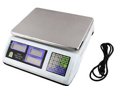 60LB 30KG Digital Price Computing Scale Food Produce Meat Deli Kitchen 66LB
