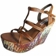 Platform & Wedge Synthetic Multi-Colored Heels for Women