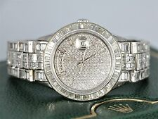 $125,000 Rolex 18K White Gold 25.00ct Diamond 40mm Presidential Flooded Watch