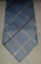 Thomas Nash blue cross hatch polyester tie