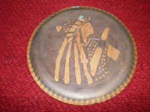 Antique Copper Wall Hanging Pharaoh Twosret in Vulture Crown Small Sized