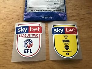 Sky Bet EFL League 2 Sleeve Patch Badge sporting Id 2018-2020 Player Size Shirt
