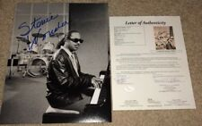 STEVIE WONDER SIGNED 11X14 PHOTO MOTOWN DETROIT PIANO SINGER SUPERSTITION JSA