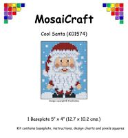 MosaiCraft Pixel Craft Mosaic Art Kit 'Cool Santa' Pixelhobby