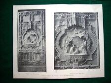 Duomo di Milano 1895, progetti premiati + dettaglio progetto Muzio e Sozzi #2
