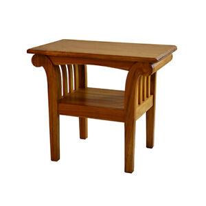 Teak Lamp Table Side table assembled Solid Teak Coffee Table Scroll