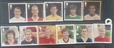 GB SET OF 11 USED STAMPS ON PAPER FOOTBALLERS 2013