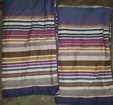 Bedeck 1951 striped multicolor king Pillowcase Pair cotton