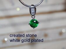 1ct 5mm round emerald DIAM0NDS  pendant