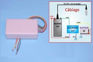 Allumage transistorisé 12V équiv. CARTIER/VELLEMAN  pour bobine 4 ohms/rupteur