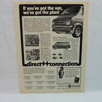 DIRECT CONNECTION SPECIAL PARTS 1975 ADVERTISING MAGAZINE AD