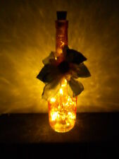 HANDMADE LIGHTED BOTTLE with Usb Rechargeable Led Cork Light String