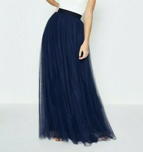 BRAND NEW SIZE SMALL NAVY BLUE TULLE MAXI SKIRT