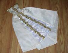 EVENING DRESS MODEL MUSE BARBIE DOLL Off White Satin & Gold Trim