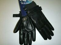 Isotoner mens SLEEKHEAT designer Faux Leather Fleece Lined winter gloves -Medium