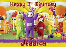 Teletubbies personalised A5 birthday card son daughter niece nephew name age