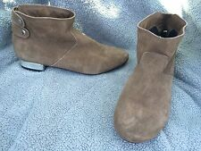 Very Volatile Ankle boots Tan Suede Leather Mirror Heels Women's Size 7.5