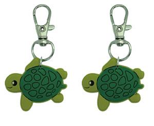 Turtle Zipper Pull Set of 2 Zip Pull Badge Reel Purse Collar Charm