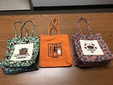 Pre Owned Longaberger Holiday Totes Lot Of 3, Excellent Condition!