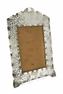 Arts & Crafts Hammered Silverplate Edwardian Photo Frame 291grms 1910