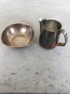 Milk Jug & Sugar Bowl Set. BEARD Diplomat. Metal.