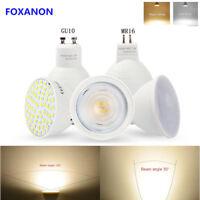GU10 MR16 LED Bulb 3W 4W 5W Spotlight COB Chip 120 ° 30 °Beam Angle AC220V Lamp