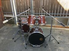 Sonor Phonic Plus Schlagzeug Red Mahagony Drumset Vintage mit Hardware