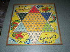 Vintage Hop Ching Chinese Checkers Board Pressman Co. New York Bright Colors