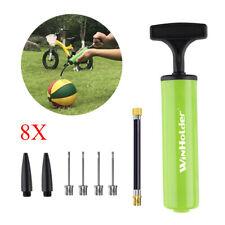 8PC Portable Ball Inflator Hand Air Pump For Football Basketball Soccer +Needles