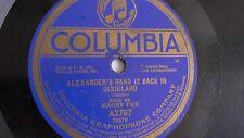 Al Jolson / Harry Fox - 78rpm single 10-inch – Columbia #A2787 Alexander's Band