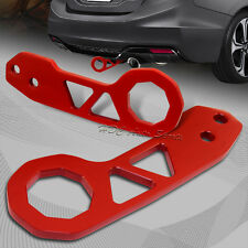 "2"" JDM Red Rear Anodized Billet Aluminum Racing Towing Hook Tow Kit Universal 1"