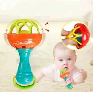 Baby Soft Rubber Rattles Hand Bel teether fun Children Early Education Toy. gghg