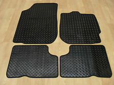 Dacia Duster 2013-on Fully Tailored RUBBER Car Mats in Black.