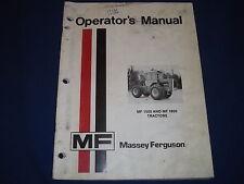 Massey Ferguson Mf 1500 Mf 1800 Tractor Operation Amp Maintenance Book Manual