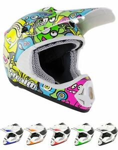 Stealth HD204 Motorcycle Motorbike GP Replica Kids MX Motocross Helmet