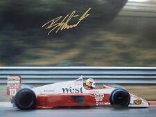 Bernd Schneider SIGNED 12x8 F1 Zakspeed 881 V6, Belgian GP Spa 1988
