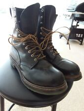 RED WING LOGGER LINEMAN BLACK LEATHER MOTORCYCLE  BOOTS SZ 12D MADE IN USA 2218