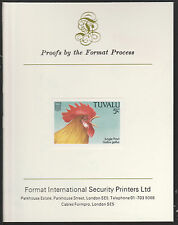 Tuvalu (1403) - 1988 BIRDS 5c imperf on Format International PROOF  CARD