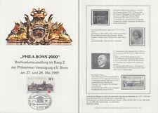 """Karte  2000Jahre Bonn zur Ausstellung """"Phila-Bonn-2000"""" (mit Marke MiNr.1402)"""