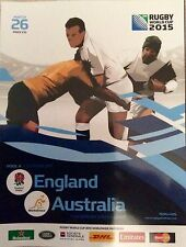 Rugby World Cup England 2015 Official Programme Match 26 England vs Australia