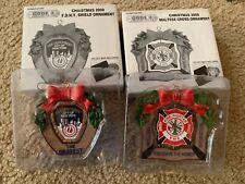 CODE 3 COLLECTIBLES 2000 CHRISTMAS ORNAMENT MALTESE CROSS And FDNY