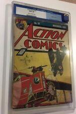 Action Comics #18 (1939) CGC 3.0 GVG Universal last non-Superman Cover