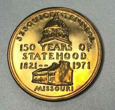 MISSOURI ~ Sesquicentennial ~ Gateway to the West Medallion ~ HRD 1971 39mm