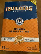 Clif Builders Protein Bar 20G ~  24 CRUNCHY PEANUT BUTTER ~ Free Shipping