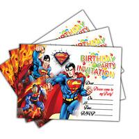 Superman Invitations | 20 Cards | Birthday Party Invites Cards | Kids Boys Girls
