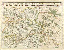 SACHSEN - OBERSACHSEN - Blaeu - kolorierte Kupferkarte 1635