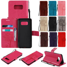 Flip Cat Leather Card Pocket Wallet Stand Case Cover For Samsung Galaxy S9 Rose